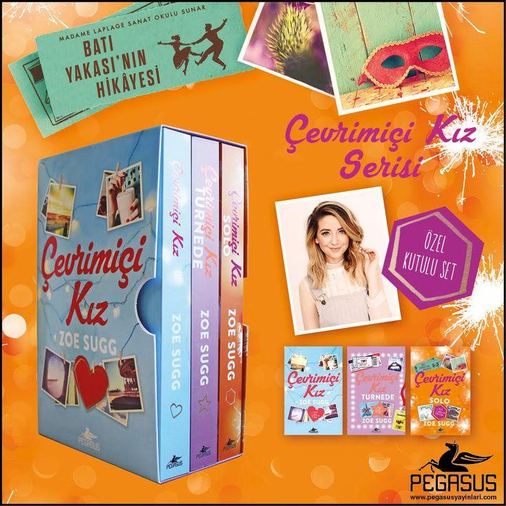 #YENİ  ÇEVRİMİÇİ KIZ ÖZEL KUTULU SET (3 Kitap) - ZOE SUGG  Çeviren: Sevinç Seyla Tezcan / Gençlik / 1056 Sayfa - 3 Kitap  Set içindeki kitaplar; * Çevrimiçi Kız * Çevrimiçi Kız Turnede * Çevrimiçi Kız - Solo  18 Mayıs'ta kitapçılarda!  İncelemek için: http://urun.n11.com/roman/cevrimici-kiz-kutulu-ozel-set-3-kitap-P184984268?utm_content=buffera20cc&utm_medium=social&utm_source=pinterest.com&utm_campaign=buffer