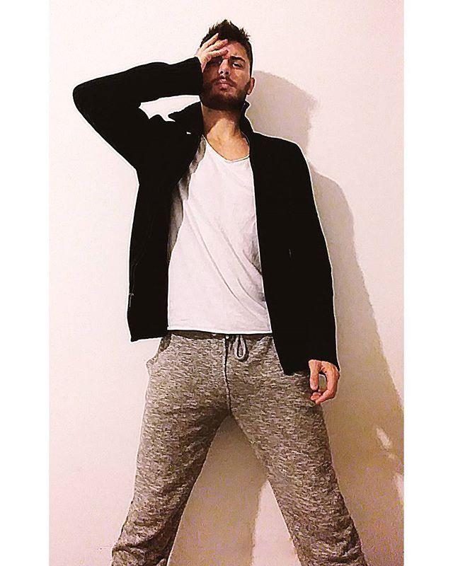 Reposting @adrianocordisco: Mondays are hard. .  #monday #boy #boys #cool #cute #dude #dead #eyes #italian #italianboy #fun #guy #guys #handsome #hot #tiredaf #bearded #jumper #joggers #sporty #love #me #afterworkout #white #manstyle #menswear #beard