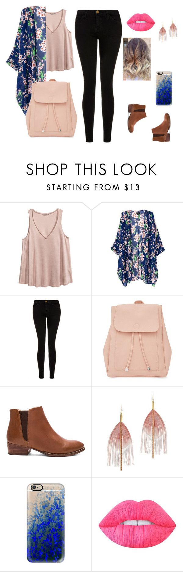 """casual and fresh"" by daniblack03 on Polyvore featuring moda, H&M, Current/Elliott, New Look, Seychelles, Serefina, Casetify y Lime Crime"