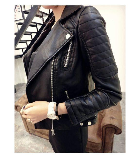 2016 новинка женщин искусственного мягкой кожи куртки горячая осень зима пу черный блейзер новорожденных пальто мотоцикл верхняя одежда