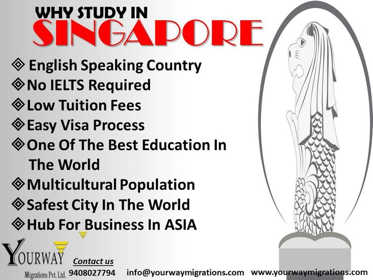 #Study-in-Singapore #English-Speaking-Country #Fastest-Growing-Country #No-IELTS-Required #Multicultural-Population #Apply-For-Bachelor-Master #Best-Education-In-The-World #Hub-For-Business #Low-Tuition-Fees #Safest-City-In-The-World #Easy-Visa-Process  #Yourway-Migrations-Pvt-Ltd is a renowned name in #Education-Consultant-for-Singapore-in-Vadodara.