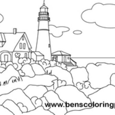 maine lighthouse coloring page