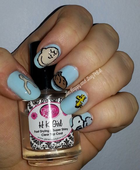 Peanuts Thanksgiving manicure