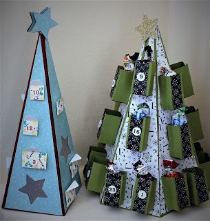 Crafty Little Blog: Christmas Tree Advent Calendars