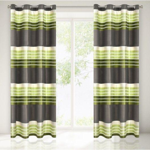 Interierove dekoracne zavesy do obyvacky v zelenej farbe