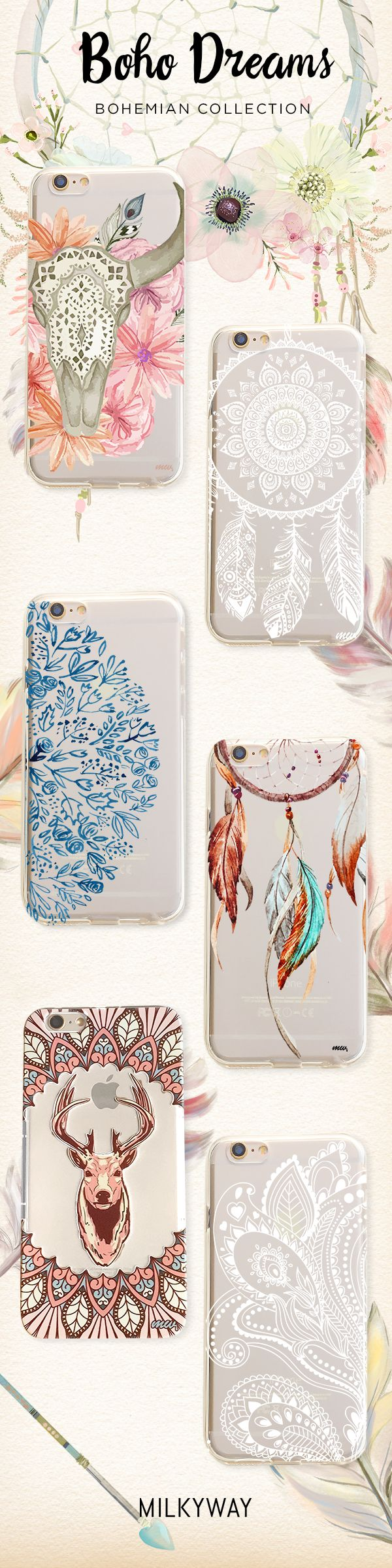 Bohemian Dreams Collection of Phone Cases for iPhone & Samsung. Shop Now at Milkyway Cases