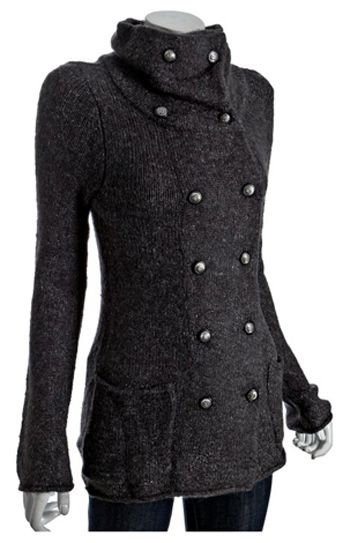 I like it - very cool -- Military style sweater