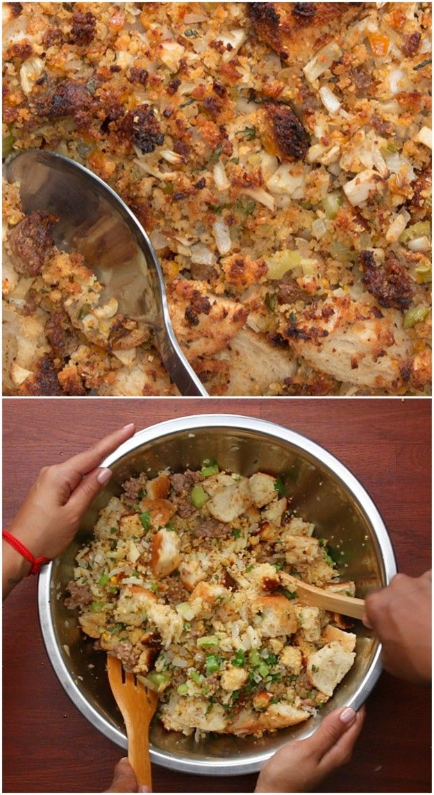 Cornbread Stuffing As Made By Tia Mowry And Cory Hardrict