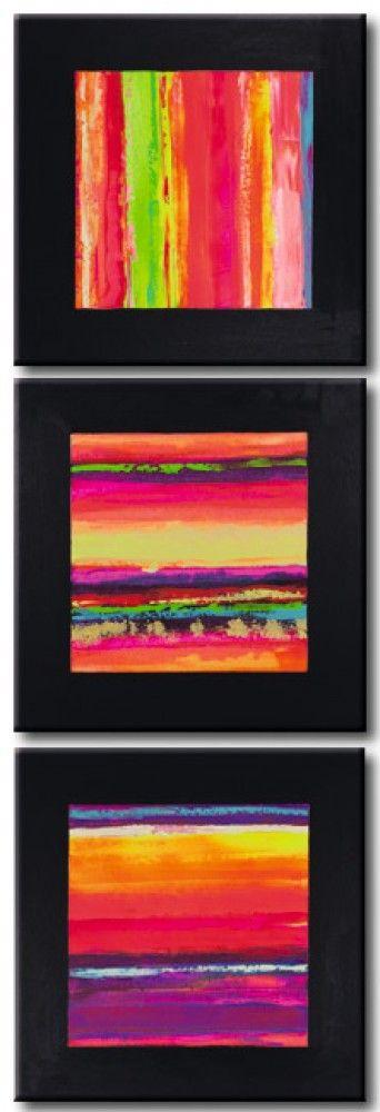 """┇┇┇ Einfallsreiches Wandbild """"Farbenparade"""" knüpft an die hervorragendsten Bilder von Wassily Kandinsky oder Paul Klee. Motive des Bildes auf Leinwand: bunt, geometrische Figur, Fantasie, Triptychon. Schöne Wanddeko für moderne Wohnräume ┇┇┇"""