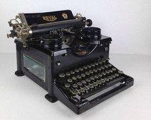 Royal Typewriter Antique Royal Typewriter Vintage 1920s Industrial Typewriter 1910s Royal Antique Typewriter Beveled Glass…