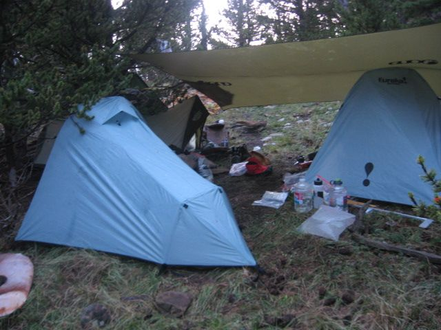 High mountain elk camp in the wilderness of Colorado