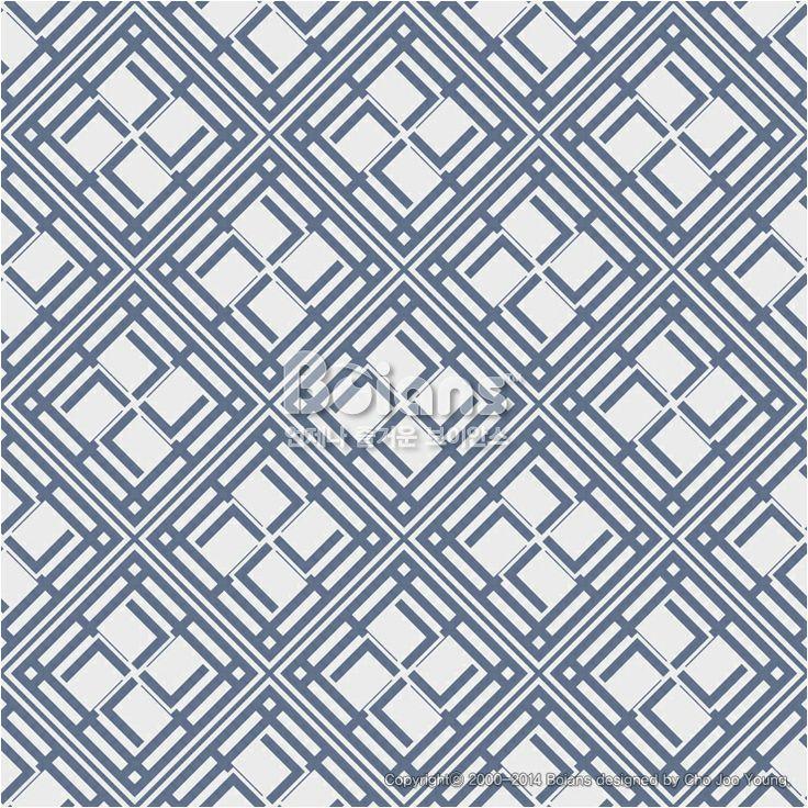 파란색 사각 격자 무늬 패턴. 기하학 패턴. 한국 전통문양 패턴디자인 시리즈. (BPTD020179) Blue Colors Square grid Pattern. Korean traditional Pattern Design Series. Copyrightⓒ2000-2014 Boians.com designed by Cho Joo Young.
