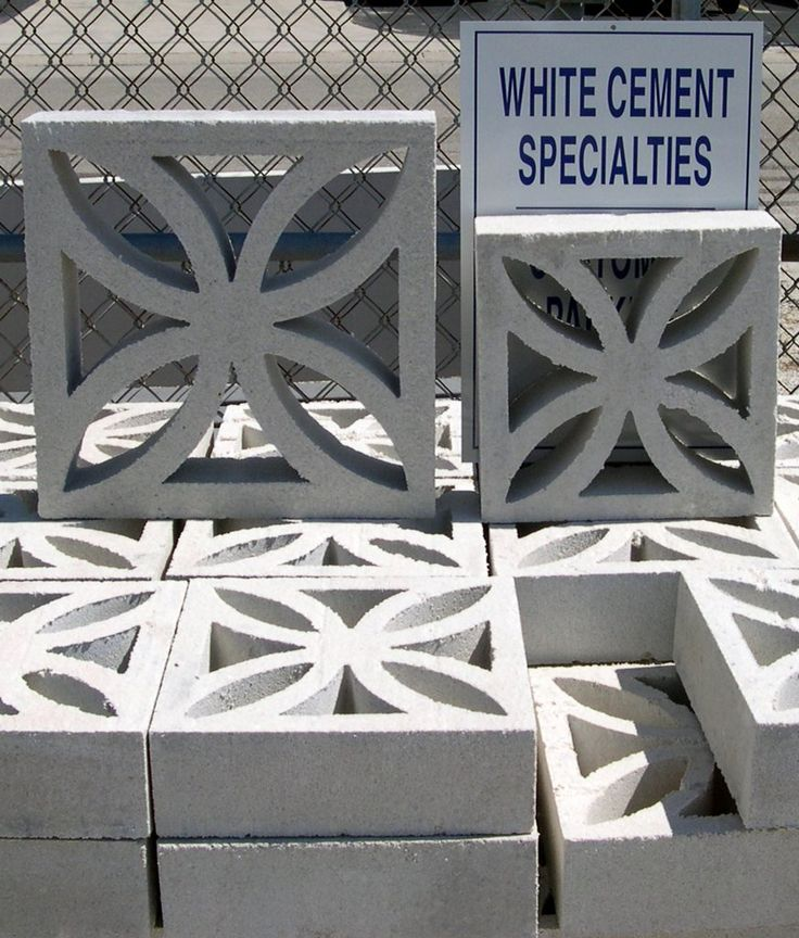 Decorative Light Blocks : Fl company sells these screen block mid century cool