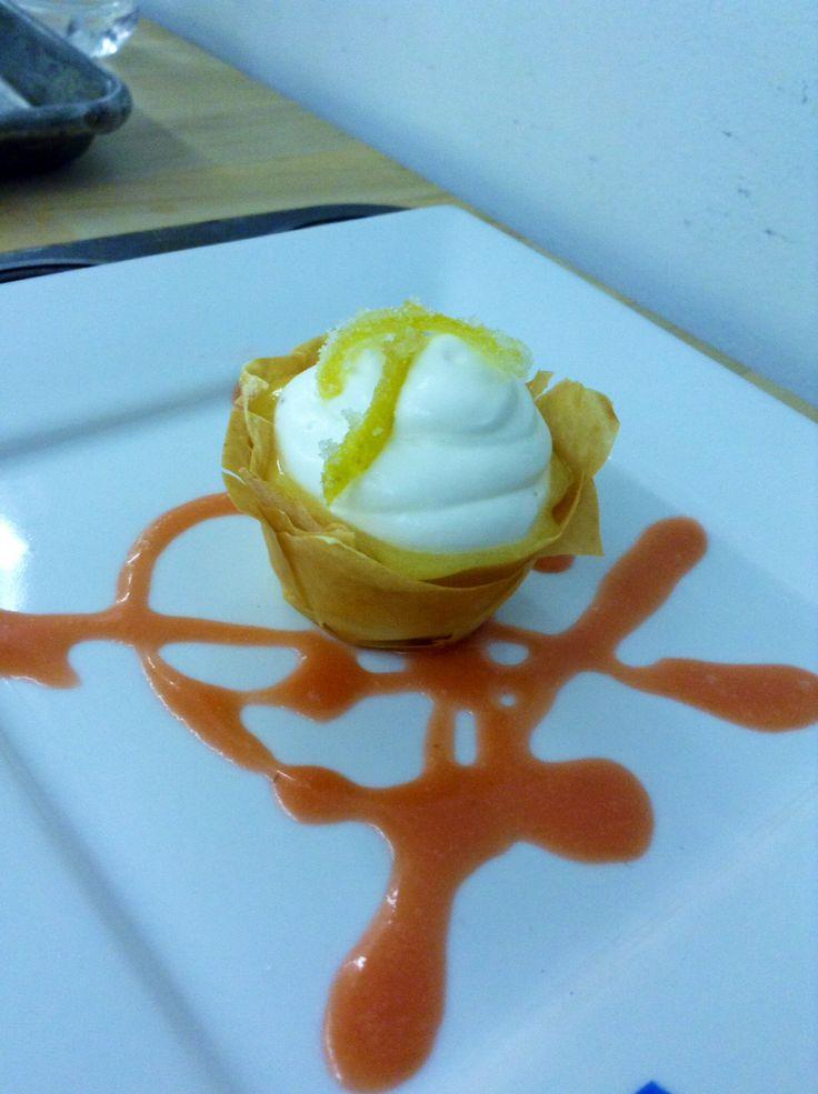 Lemon Phillo dough individual pies
