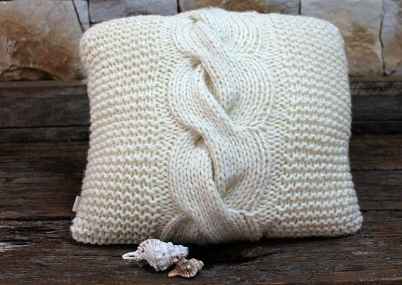 Chunky Cable Cushion by MicMacDesign on Etsy