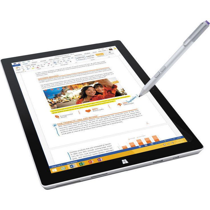 Cheapest ever! Microsoft Surface Pro 3 256GB SSD HD 8GB Ram Intel Core i5 Tablet PS2-00001 NEW #Microsoft