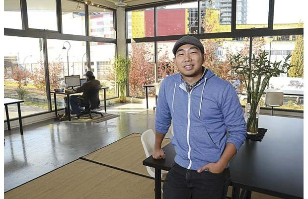 Jay Catalan, co-founder of the Network Hub in Vancouver and New Westminster's River Market, says a changing economy means more people are working for themselves, and the Network Hub is offering a place to work and meet the right people to do business. Photo: Larry Wright , THE RECORD