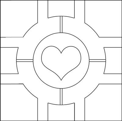 Pattern for the plush companion cube.