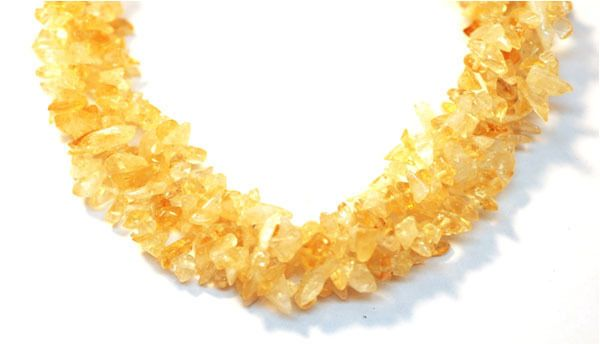 "2 Strands Fine Citrine Endless Jewelry Making Chips Beads 36"" Long, Uncut Beads #Empressbeads"