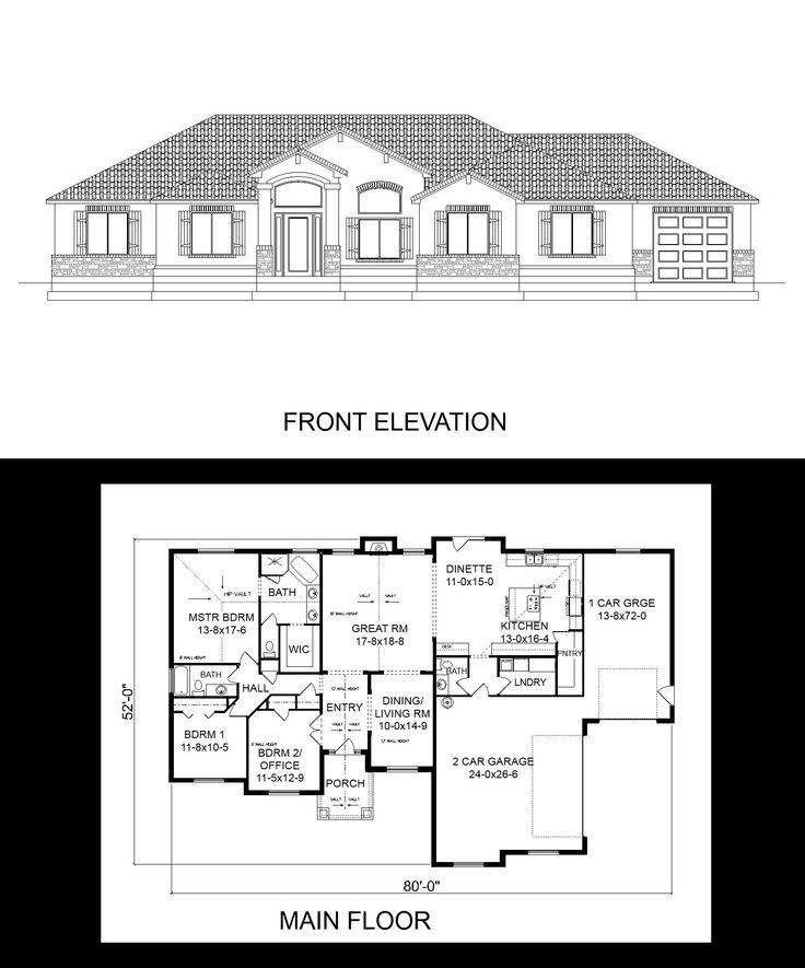 Side load garage house plans for Side garage house plans