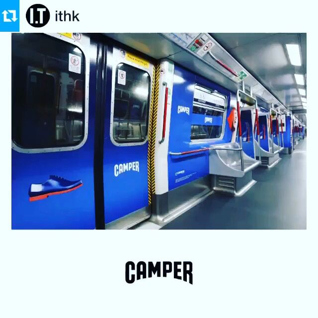 #Repost @ithk with・・・The strong and eye catching images from CAMPER have now taken over the MTR! Let's get into the CAMPER world!  @camper #camper #ithk #ss15 #springsummer #fashion #style #footwear #campaign #avatar #futuristic #surreal #newarrivals #mtr