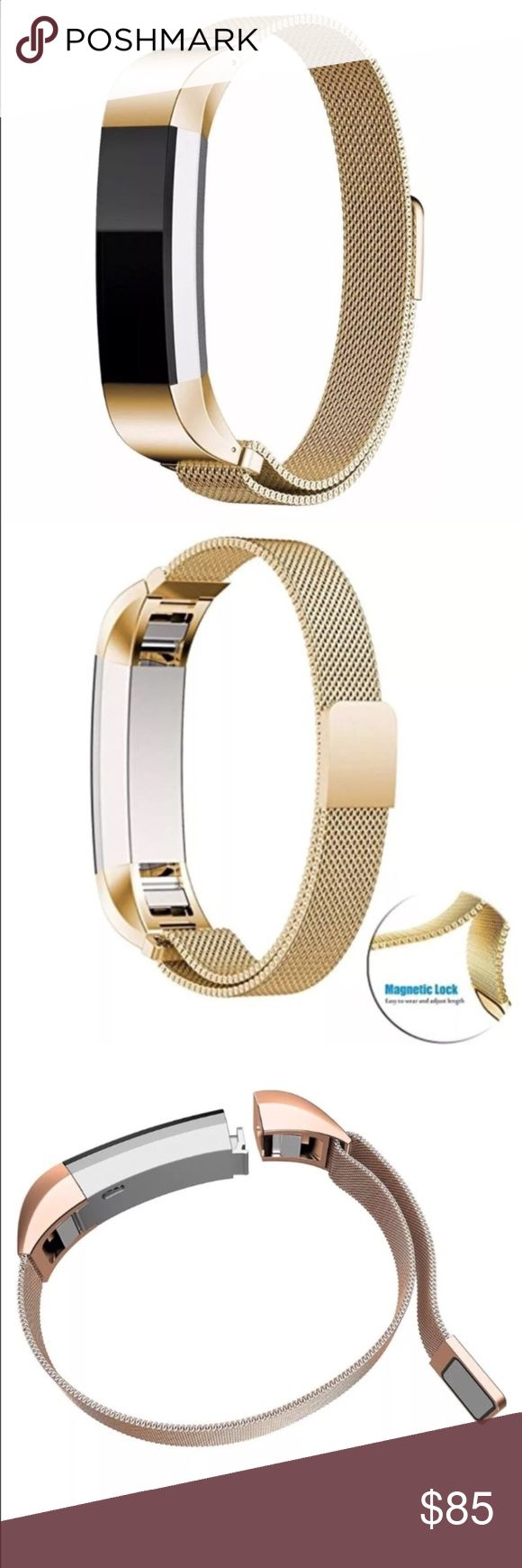Fitbit Alta gold mesh band. Fitbit Alta gold mesh band. Magnetic closure. Brand new. Band only. Accessories