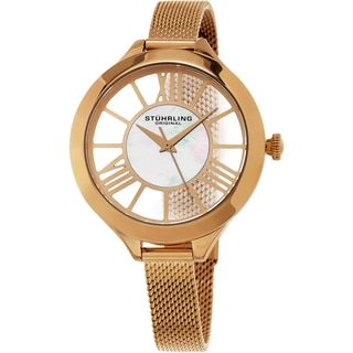 Shop for Stuhrling Original Women's Winchester Quartz Rose Tone Mesh Band Watch and more for everyday discount prices at Overstock.com - Your Online Watches Store!