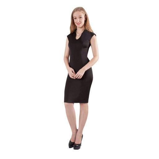 Basic black dress, wear red shoes and matching hat, or any colour at all