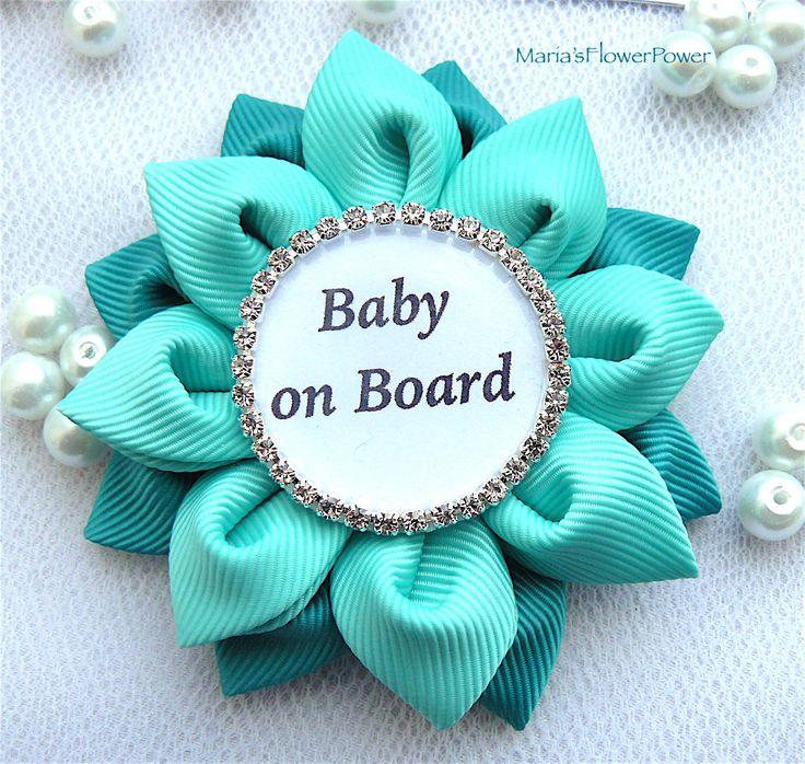 Bebé a bordo insignia Pin Corsage bebé ducha por MARIASFLOWERPOWER