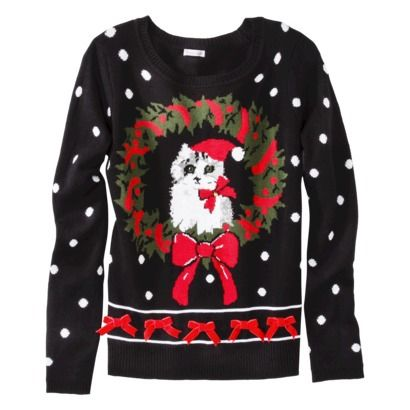 Ugly CAT Christmas sweater!