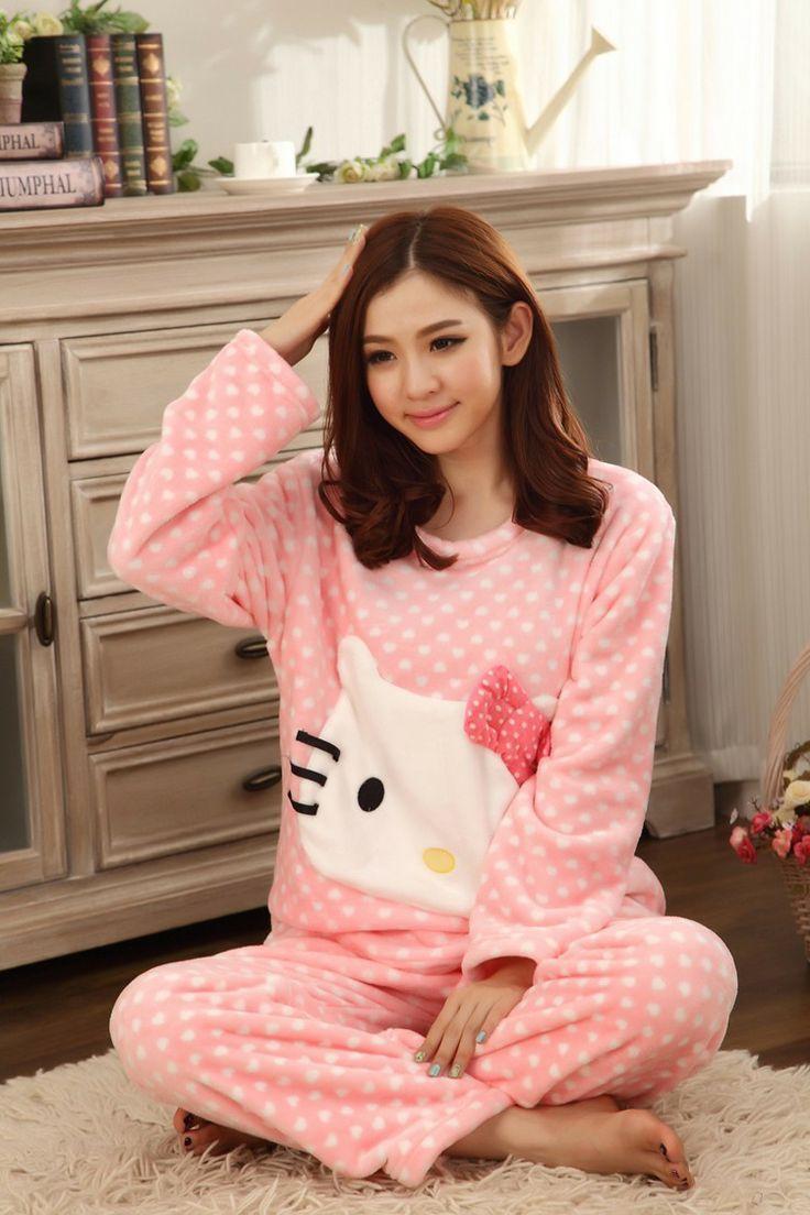 Hello Kitty Cute Thick Sleeve Pajamas - Hello Kitty Stores