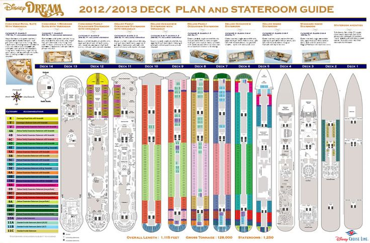 disney dream 2012 2013 deck plans and stateroom guide by