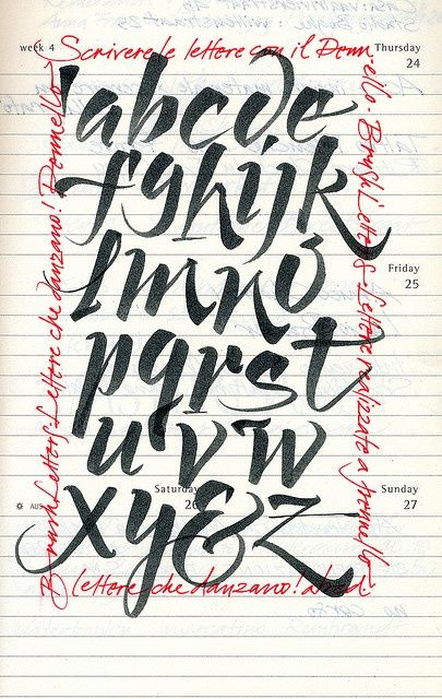 Luca barcellona has me falling for the alphabet all over Calligraphy tutorial