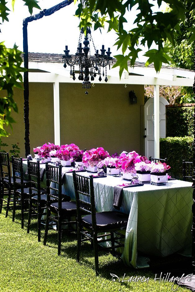 Outdoor Wedding Shower Ideas Part - 43: A Super Sweet Bridal Shower With A Hollywood Glam Flair!