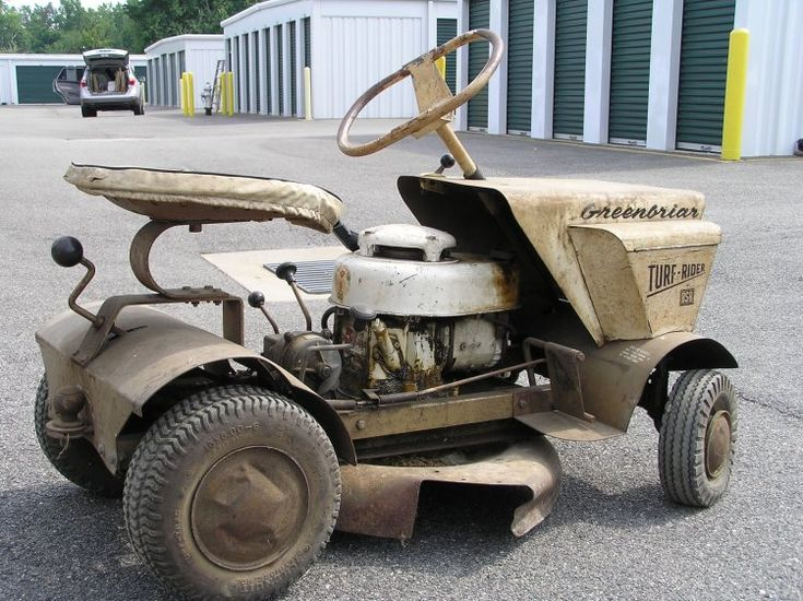 Vintage Craftsman Riding Lawn Mower : Best images about lawn mowers on pinterest gardens