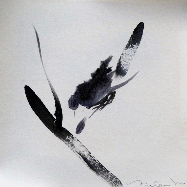 in vendita su Livin'art gli uccelli artistici del poliedrico artista parigino FREDERIC BELAUBRE  BIRD 9  acquarello su carta cm 15x15  Little Birds Delicatissimi, raffinati acquarelli monocromo, dall'atelier dell'artista parigino. La leggerezza e l'imprevidibilità del volo di uccello sono pienamente espressi in questa preziosa serie di piccole opere.