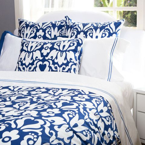Montgomery Cobalt Blue Duvet Set..can't decide if I like the blue or beige better? Decisions, decisions :))