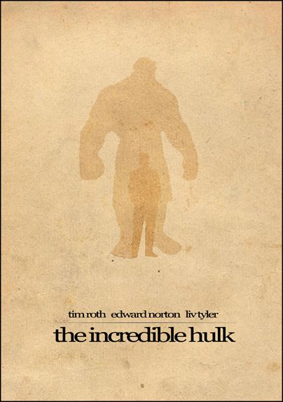 The Incredible Hulk (2008) ~ Minimal Movie Poster by Brenton Powell