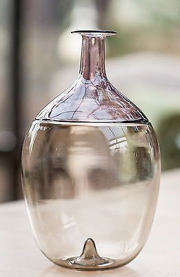 Venini Bolle Bottle by Tapio Wirkkala Lilac Art Glass NEW 502.02