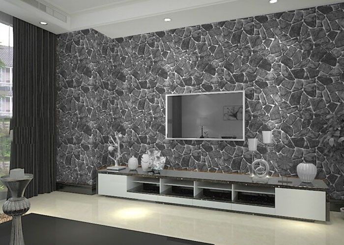 100 Wallpaper Designs For Living Room Latest Living Room Wallpaper Ideas 2018 Pared De Piedra Decoracion De Unas Pared #wallpaper #decor #living #room