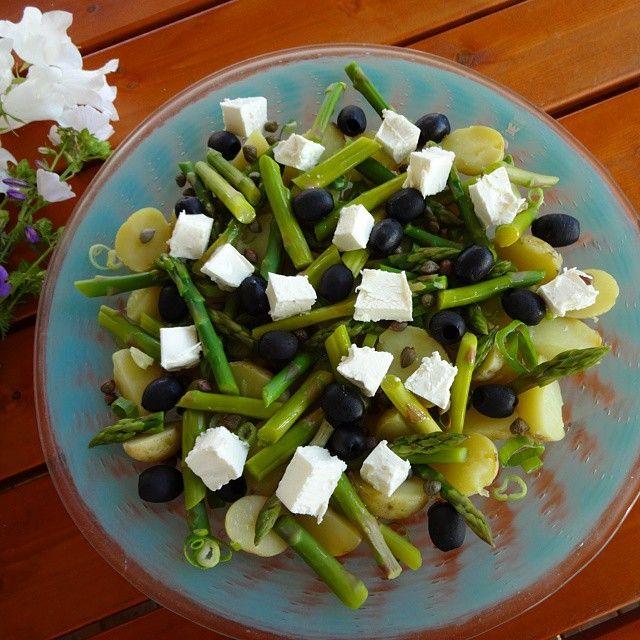 Edel's Mat & Vin : Potetsalat med asparges og fetaost ✿