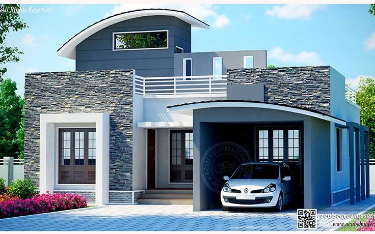 Curved #kerala #home #design style....
