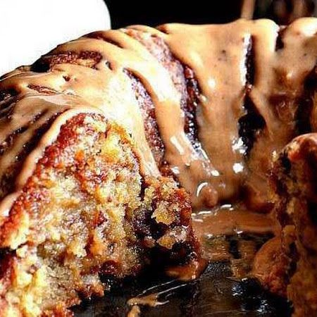 Pound Cake Brown sugar with caramel drizzle