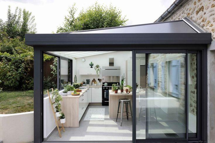 veranda extension cuisine cuisine sous v randa une id e pour agrandir la maison