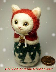 羊毛フェルト・猫マトリョーシカ 作品                                                                                                                                                                                 もっと見る