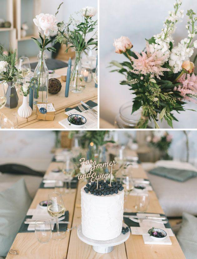 Inspiration - Ideen zur Hochzeitsfeier, Trends, DIY & Co, Tischdeko, Herzlichst, Papeterie, Hochzeitsblumen, Modern Wedding, Hochzeitsdesign. Fotocredit: Katja Heil