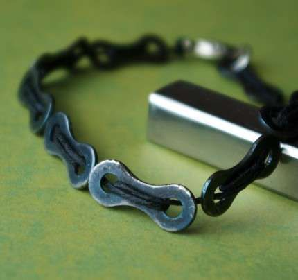 Recycled Bicycle Jewelry - Tour de France Fans Will Love These Old Bike Tires Turned Wearable Art (GALLERY)