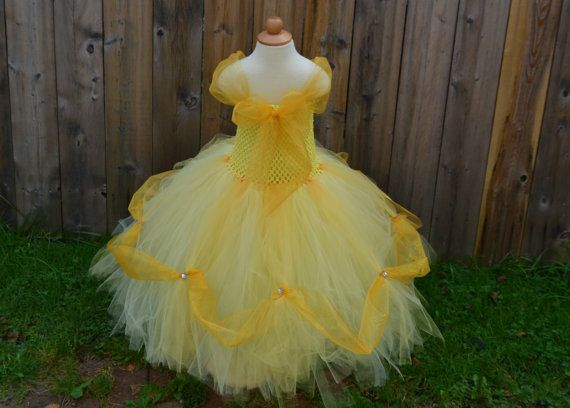 Disney PRINCESS BELLE inspired tutu dress from by LilShopofTutus