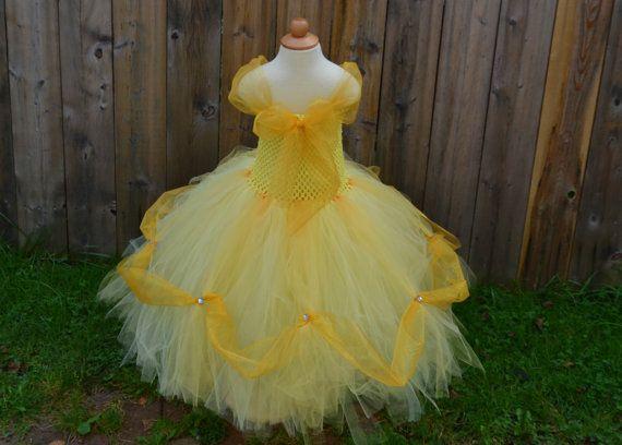 Disney PRINCESS BELLE inspired tutu dress from by LilShopofTutus