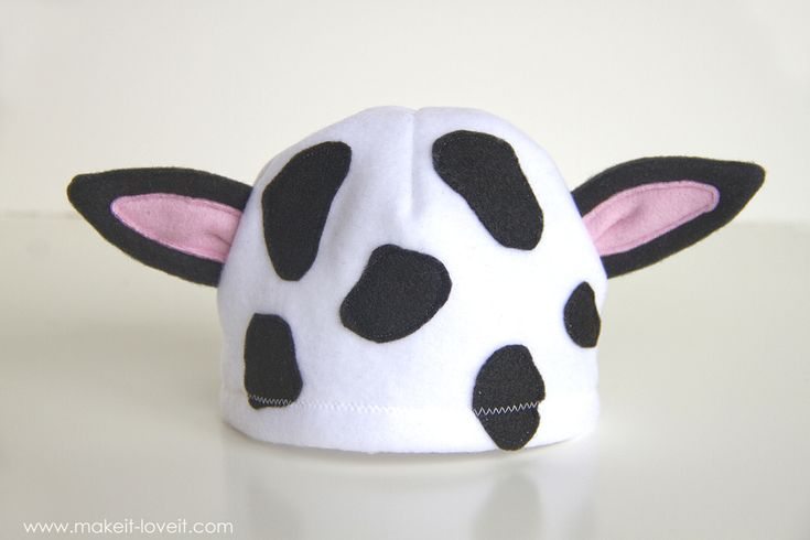 A simple DIY Baby Cow Costume... mostly interested in how to make the hat